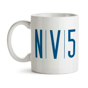 NV5 White 11oz Ceramic Coffee Mug